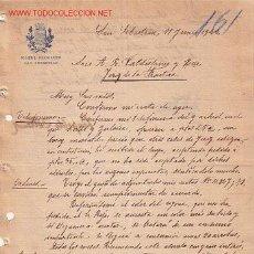 Documentos antiguos: CARTA COMERCIAL DE HOTEL BIARRITZ..SAN SEBASTIAN. Lote 1091194