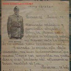 Documentos antiguos: CARTA VIVA ESPAÑA, FRANCO, JUNIO DE 1938. Lote 13627880