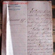 Documentos antiguos: COMUNICACIÓN DENEGANDO EL ASCENSO POR AL DEFENSA DE GUETARIA AL HABERSE CONCEDIDO POR LA DEFENSA.... Lote 9740081