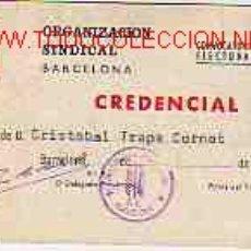 Documentos antiguos: CARNET DE LA ORGANIZACION SINDICAL DE BARCELONA - 1971 UNIÓN DE EMPRESARIOS TEXTIL DE MANRESA. Lote 1433478