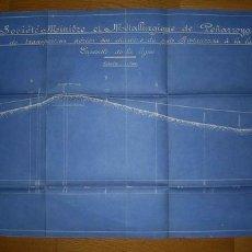 Documentos antiguos: PLANOS DE UN PROYECTO. PEÑARROYA ( CÓRDOBA)- MINAS- 1919. Lote 23728612