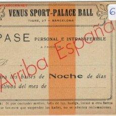 Documentos antiguos: PASE VENUS SPORT. Lote 1666691