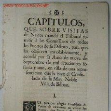 Documentos antiguos: VISITAS NAVIOS. SIGLO XVIII. Lote 13566285
