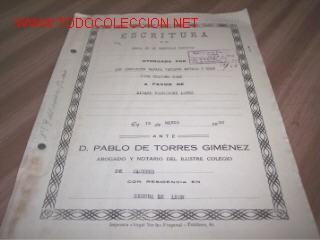 Documentos antiguos: ESCRITURA DE VENTA DE INMUEBLE RUSTICO - 1930 - Foto 4 - 7287810