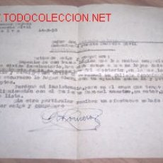 Documentos antiguos: CARTA DE 1958. Lote 2646465