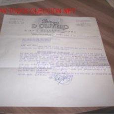 Documentos antiguos: CARTA DE BODEGAS D.OLIVERO - BOLLULLOS DEL CONDADO - 1962. Lote 2649875
