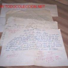 Documentos antiguos: LOTE DE 5 PAPELES . Lote 10262433