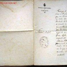 Documentos antiguos: GALICIA / CARNOTA - TRASLADO ESCUELA DE NIÑAS DE CANEDO - 1921.. Lote 26772103