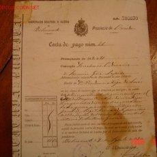 CARTA DE PAGO 1890