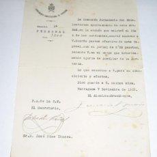 Documentos antiguos: AYUNTAMIENTO CONSTITUCIONAL DE TARRAGONA - 1929. Lote 25694916