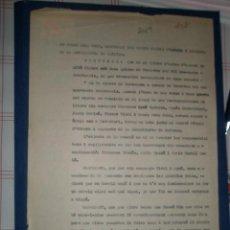 Documentos antiguos: DOCUMENTO TAMAÑO FOLIO, ACTA SOBRE INFRACCIONES MONETÁRIAS, 1936. Lote 10095529