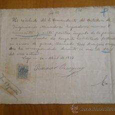 Documentos antiguos: DOCUMENTO DE COBRO POR FALLECIDO EN ACCIÓN DE GUERRA, 1937, CON VIÑETA REPUBLICANO. Lote 10098541