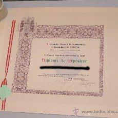 Documentos antiguos: DIPLOMA Y PREMIO ESPECIAL 2 EXPOSICION NUMISMATICA 1951. Lote 27125233