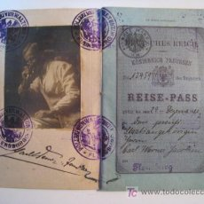 Documentos antiguos: PASAPORTE ALEMAN - CARL WERNER JACOBSEN - 1920. Lote 11211710