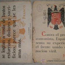Documentos antiguos: 2 HOJAS TAMAÑO FOLIO. Lote 11590754