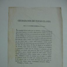 Documentos antiguos: BANDO. 1823. TARRAGONA. FRANCISCO MILANS. . Lote 14356034