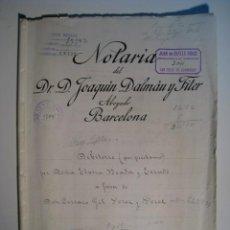 Documentos antiguos: ESCRITURA PRESTAMO EN BARCELONA DE 1931. Lote 12790981