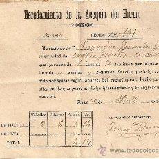 Documentos antiguos: ACCIONES ,AGUA ,CIEZA . Lote 26514605