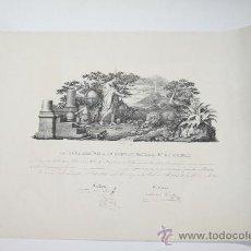 Documentos antiguos: 1843. TÍTULO DE LA ACADEMIA DE CIENCIAS NATURALES. Lote 13413465