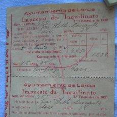 Documentos antiguos: DOCUMENTO LORCA 1930. Lote 13521563