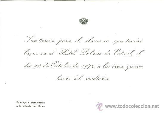 Tarjeton Invitacion Para Almuerzo Con Don Juan Comprar En