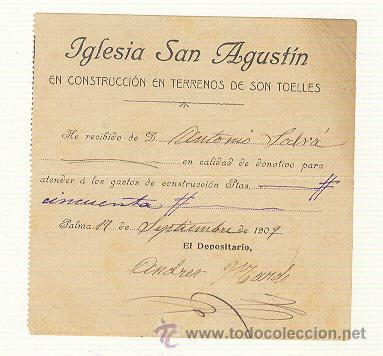 Documentos antiguos: CUATRO PAPELES RELIGIOSOS PALMA DE MALLORCA DE 1883 A 1909 - Foto 2 - 22756204