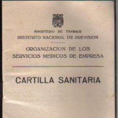 Documentos antiguos: ANTIGUA CARTILLA SANITARIA. Lote 26918150