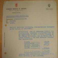 Documentos antiguos: NOMINA DELEGACION SINDICATOS FALANGE Y LAS JONS 1959 ZARAGOZA. Lote 14140015