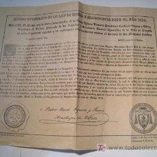 Old Documents - CERTIFICADO INDULTO APOSTOLICO AYUNO Y ABSTINENCIA 1930 - 14426102