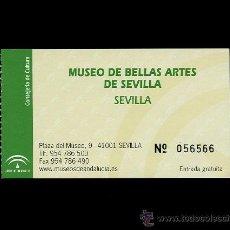 Documentos antiguos: ENTRADA A MUSEO DE BELLAS ARTES DE SEVILLA - MONUMENTO HISTÓRICO - TIQUE BILLETE PINACOTECA. Lote 14456219