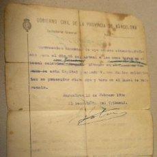 Documentos antiguos: DOCUMENTO TAMAÑO CUARTILLA, CONVOCATORIA EXAMEN OPERADORES CINEMATOGRÁFICOS, BARCELONA 1930. Lote 14631954