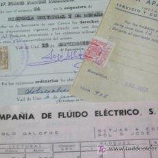 Documentos antiguos: **LOTE DE DOCUMENTOS ANTIGUOS**. Lote 27214393
