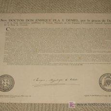 Documentos antiguos: BULA DE CRUZADA PARA 1946. LIMOSNA DE 1ª CLASE: 25 PESETAS. CARDENAL ENRIQUE PLA Y DENIEL. 32 X 22,2. Lote 24167464