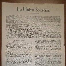 Documentos antiguos: DOCUMENTO CARLISTA, DE DOBLE FOLIO, 1947. Lote 15162537