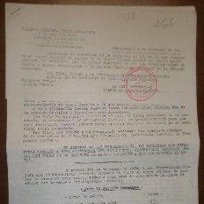 Documentos antiguos: DOCUMENTO TAMAÑO FOLIO, FALANGE DE TERUEL. Lote 15162693