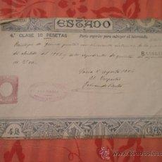 Documentos antiguos: PAGOS AL ESTADO, SORIA, 1925. Lote 15341682