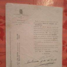 Documentos antiguos: DOCUMENTO TAMAÑO CUARTILLA, DIPUTACIÓN PROVINCIAL DE SORIA, 1954. Lote 15342432