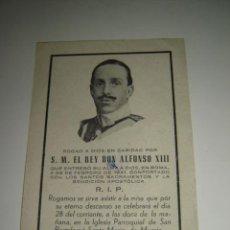 Documentos antiguos - RECORDATORIO DE LA MUERTE DE S. M . EL REY ALFONSO XIII . FEBRERO 1949 - 26466722