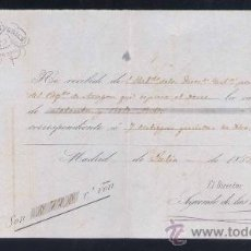 Documentos antiguos: 1851.-SUSCRIPCIÓN MENSUAL DE AYUDA A LA MILICIA.. Lote 15695474