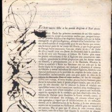 Documentos antiguos: 1818.- REAL DECRETO DEL 1º DE JUNIO REORGANIZANDO LOS EJÉRCITOS .. Lote 15708887