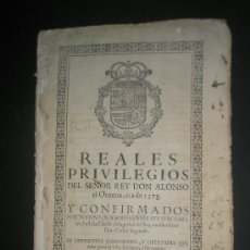 Documentos antiguos: REALES PRIVILEGIOS DE LA VILLA DE CABRA DADO POR ALFONSO XI EN LA ERA DE 1378 Y CONFIRMADOS EN 1700. Lote 19723094