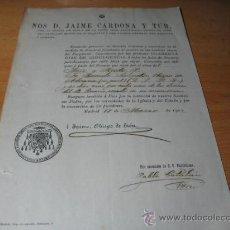 Documentos antigos: PADRE SALVADO -TUY - ESTAS - AUSTRALIA - NUEVA NURSIA -1902 OBISPO DE MADRID MISA POR SU ALMA . Lote 15773533