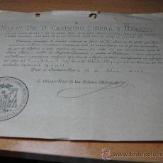 Documentos antigos: PADRE SALVADO -TUY - ESTAS - AUSTRALIA - NUEVA NURSIA -1902 OBISPO CIUDAD REAL MISA POR SU ALMA. Lote 15773580