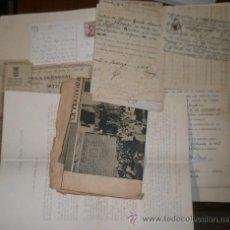Documentos antiguos: LOTE DE DOCUMENTOS, CARTAS, POSTAL, SALVOCONDUCTO DE ZONA FRONTERIZA, RECIBOS, PAGOS, ETC.... Lote 16047791