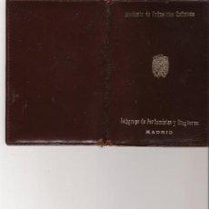 Documentos antiguos: CARTERA DEL SINDICATO DE INDUSTRIAS QUIMICAS - SUBGRUPO DE PERFUMISTAS Y DROGUEROS - MADRID - . Lote 16287297
