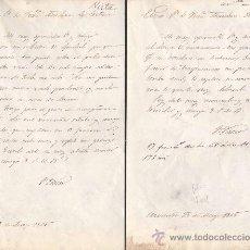Documentos antiguos: CARTAS DE AGRADECIMIENTO DIRIGIDAS A D. FRANCISCO MENDOZA CORTINA ,SECRETARIO DEL SENADO. Lote 20554649