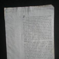 Documentos antiguos: EPOCA NAPOLEONICA.FUERO MILITAR DE ARTILLERIA EN LAS FUNDICIONES,MAESTRANZAS PARQUES Y FABRICAS 1805. Lote 26878855