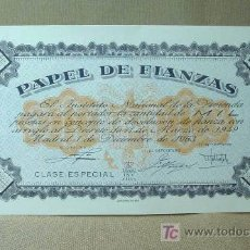 Documentos antiguos: PAPEL DE FIANZAS, 1000 MIL PESETAS, INSTITUTO NACIONAL DE LA VIVIENDA, 1963. Lote 17035617