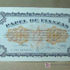 Documenti antichi: PAPEL DE FIANZAS, 1000 MIL PESETAS, INSTITUTO NACIONAL DE LA VIVIENDA, 1963. Lote 17035625