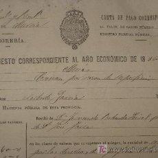 Alte Dokumente - 2 Cartas de pago de 1886-88. Murcia. - 23754945